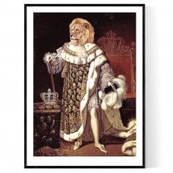Antique Lion King Poster