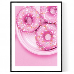Pink Donuts Poster