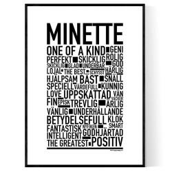 Minette Poster
