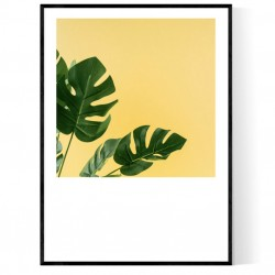 Yellow Monstera Poster