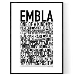 Embla Poster