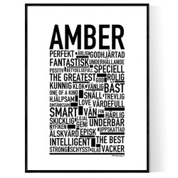 Amber Poster