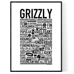 Grizzly Hundnamn Poster