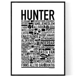 Hunter Hundnamn Poster