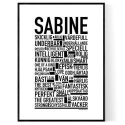 Sabine Poster