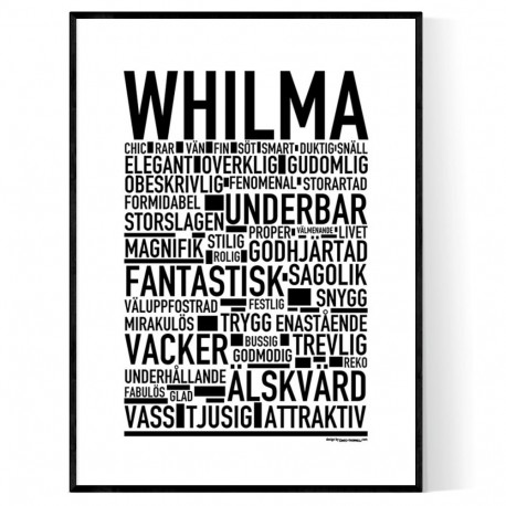 Whilma Poster