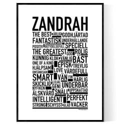 Zandrah Poster