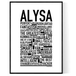 Alysa Poster