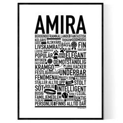 Amira Hundnamn Poster