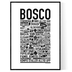 Bosco Hundnamn Poster
