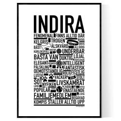 Indira Hundnamn Poster