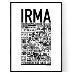 Irma Hundnamn Poster