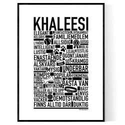 Khaleesi Hundnamn Poster