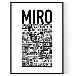 Miro Hundnamn Poster