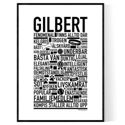 Gilbert Hundnamn Poster