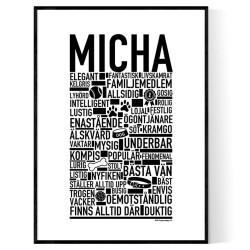 Micha Hundnamn Poster