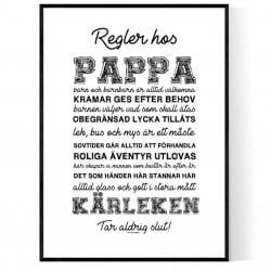 Pappas Regler Poster