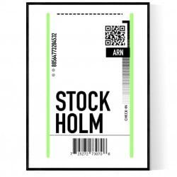 Stockholm Ticket Poster