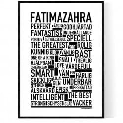 Fatimazahra Poster