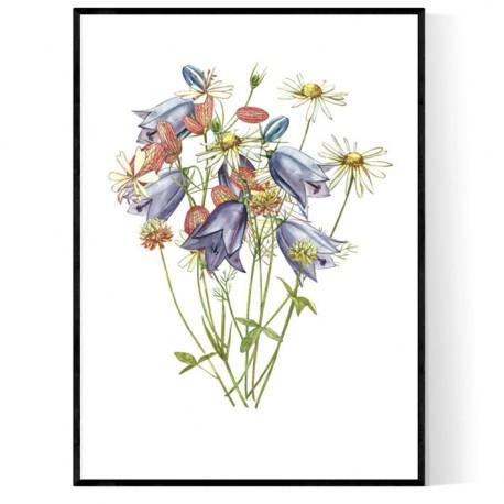 Bells Flowers Poster