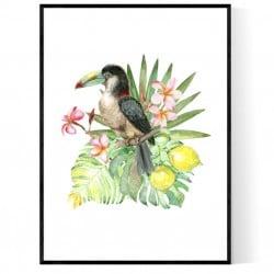 Tropical Bouquet Poster