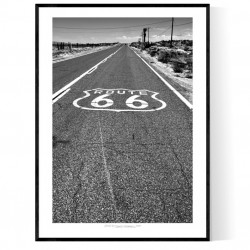 Route 66 Road Logo Poster