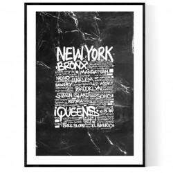 New York Marble Tags