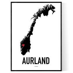 Aurland Heart Poster