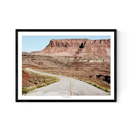 Utah Road Poster