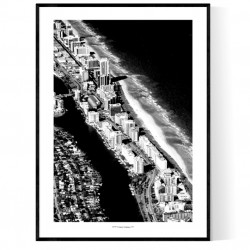 Above Miami Beach Poster