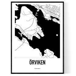 Örviken Karta
