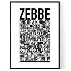 Zebbe Poster