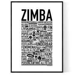 Zimba Hundnamn Poster