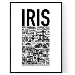 Iris Hundnamn Poster