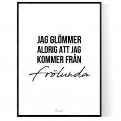 Från Frölunda Poster