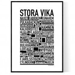 Stora Vika Poster