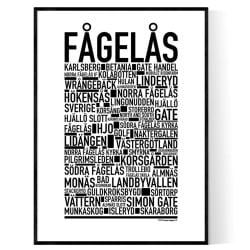Fågelås Poster