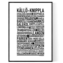 Källö-Knippla Poster