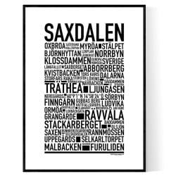 Saxdalen Poster