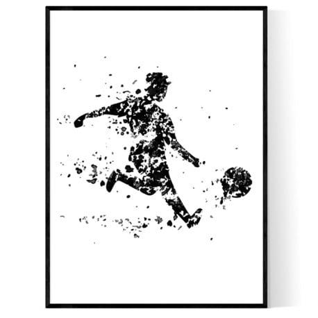 Fotbollsspelare Poster