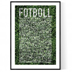 Fotboll Gräs Poster