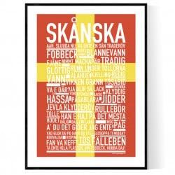 Skånska Flagga Poster