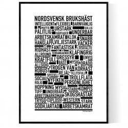 Nordsvensk Brukshäst Poster