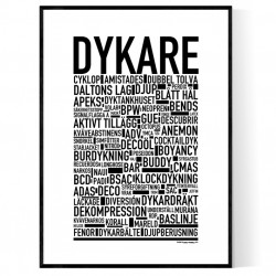 Dykare Poster