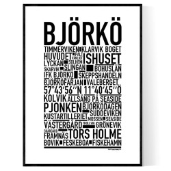 Björkö Poster