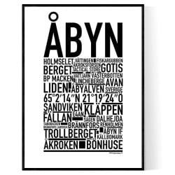 Åbyn Poster