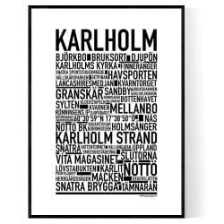 Karlholm Poster