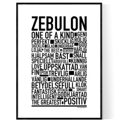 Zebulon Poster