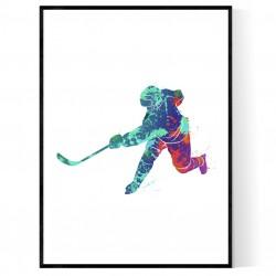 Abstrakt Hockeyspelare