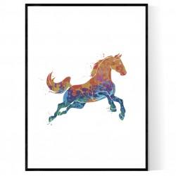 Abstrakt Häst Poster